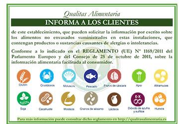 Cartel Informativo Alergenos - Qualitas