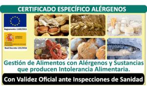 Curso Certificado Alérgenos