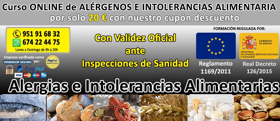 Curso de al rgenos e intolerancias alimentarias online 20 curso carnet y certificado de - Curso online manipulador alimentos ...