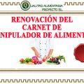Renovar Carnet de Manipulador de Alimentos